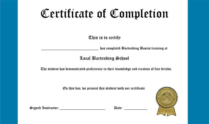 National Bartender Certification